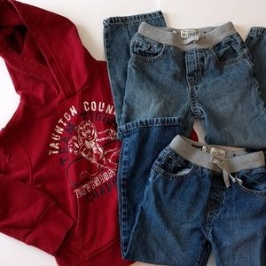 Childrens Place set of 3:  4 XS Hoody + 5T Jeans.